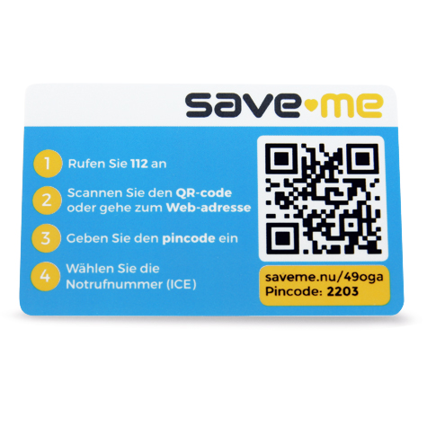 Save-Me Card - Duits
