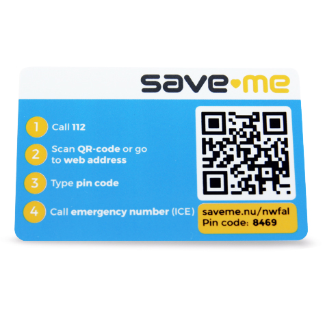 Save-Me Card - Engels