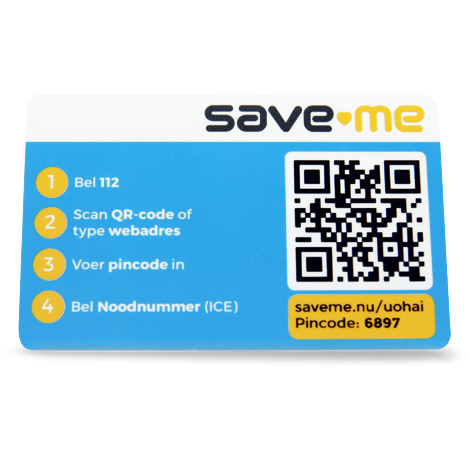 Save-Me Card - Nederlands